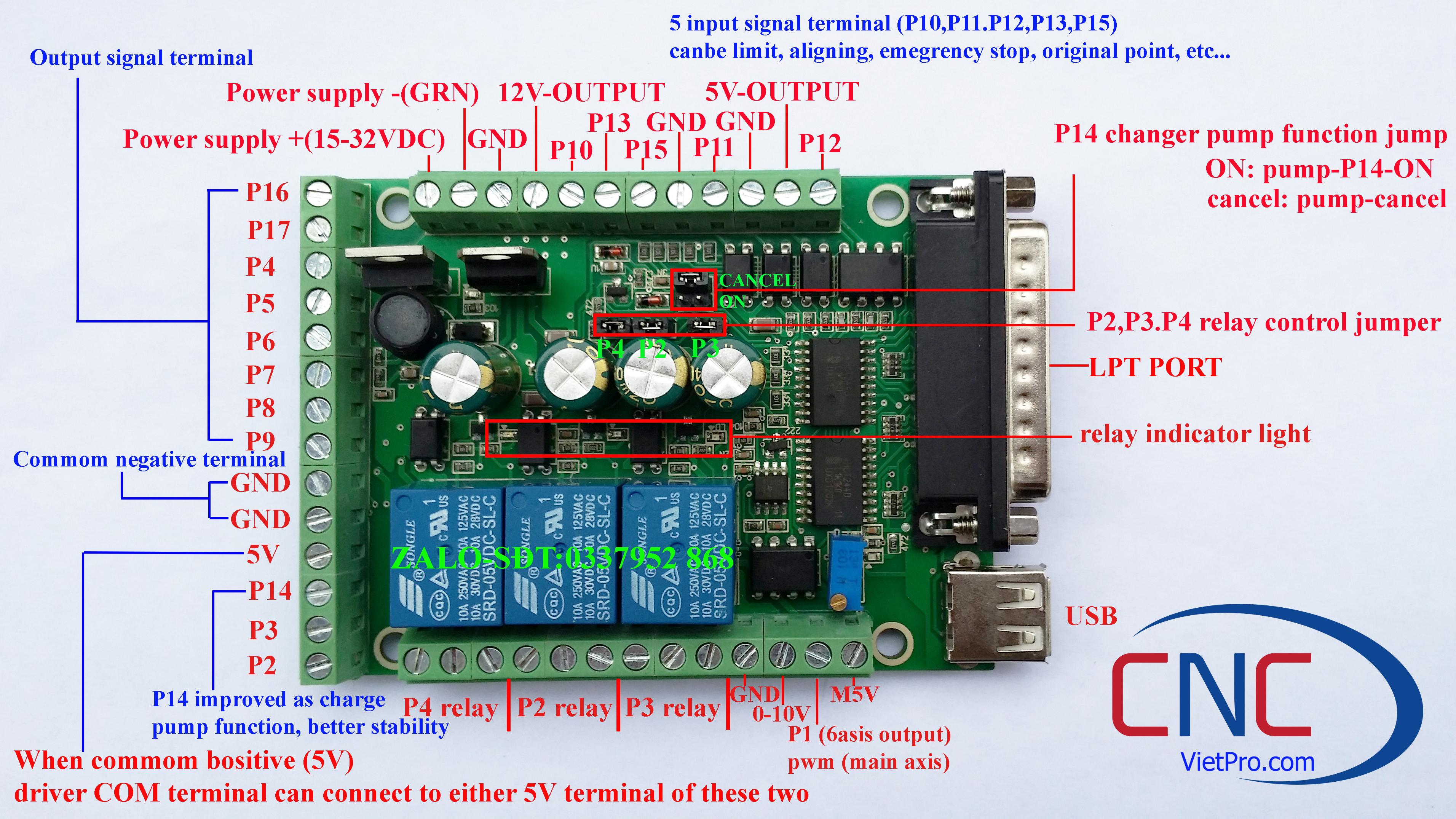 Bob Mach3 5 trục 3 relay lpt